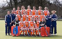 AMSTELVEEN - Teamfoto  Nederlands Meisjes B hockey. Foto KOEN SUYK