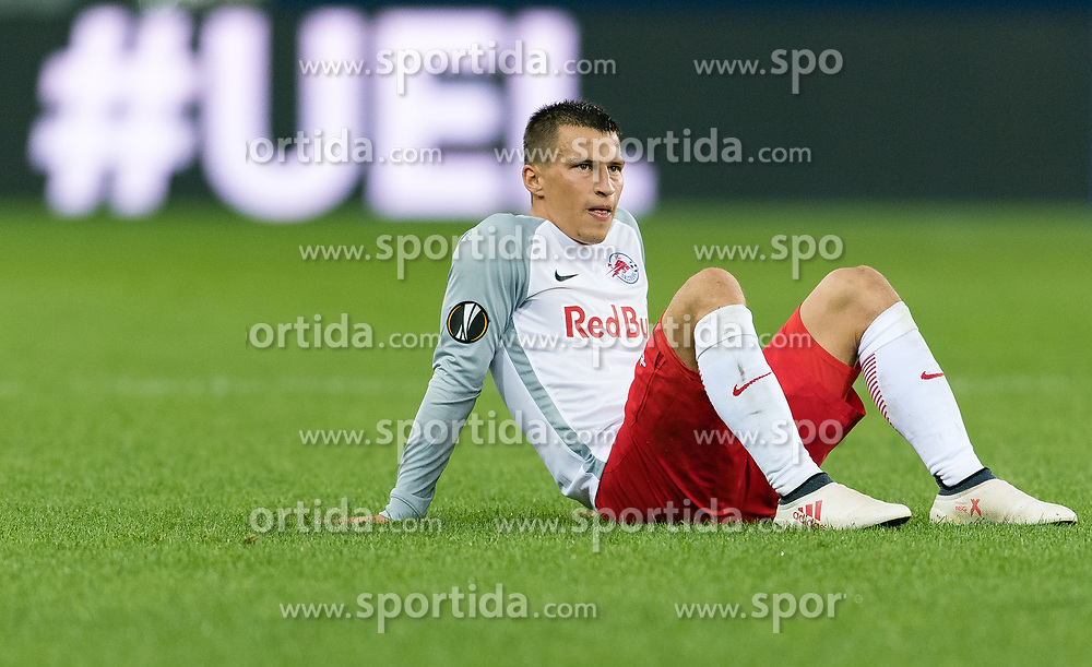 03.05.2018, Red Bull Arena, Salzburg, AUT, UEFA EL, FC Salzburg vs Olympique Marseille, Halbfinale, Rueckspiel, im Bild Stefan Lainer (FC Salzburg) // during the UEFA Europa League Semifinal, 2nd Leg Match between FC Salzburg and Olympique Marseille at the Red Bull Arena in Salzburg, Austria on 2018/05/03. EXPA Pictures © 2018, PhotoCredit: EXPA/ Stefan Adelsberger