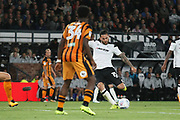 Derby County midfielder Bradley Johnson (15) scores a goal, 5-0, during the EFL Sky Bet Championship match between Derby County and Hull City at the Pride Park, Derby, England on 8 September 2017. Photo by John Potts.