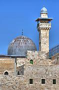 Israel, Jerusalem, Old City, Al Aqsa Mosque on Temple Mount