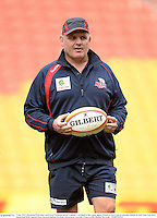 7 June 2013; Queensland Reds head coach Ewen McKenzie during a captain's run ahead of their game against British & Irish Lions on Saturday. British & Irish Lions Tour 2013, Queensland Reds Captain's Run, Suncorp Stadium, Brisbane, Queensland, Australia. Picture credit: Stephen McCarthy / SPORTSFILE