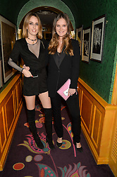 Left to right, LADY ALICE MANNERS and ROSE MACDONALD-BUCHANAN at the 2nd Bright Young Things Back In London party held at Annabel's, 44 Berkeley Square, London on 11th February 2016.