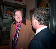 STEPHEN FRY, Opening of David Hockney ' A Bigger Picture' Royal Academy. Piccadilly. London. 17 January 2012