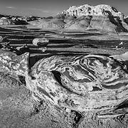Factory Detail Egg At Sunset - Bisti Badlands - New Mexico - Black & White