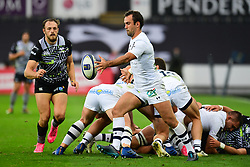 Clermont Auvergne's Morgan Parra in action  - Mandatory by-line: Craig Thomas/JMP - 15/10/2017 - RUGBY - Liberty Stadium - Swansea, Wales - Ospreys Rugby v Clermont Auvergne - European Rugby Champions Cup