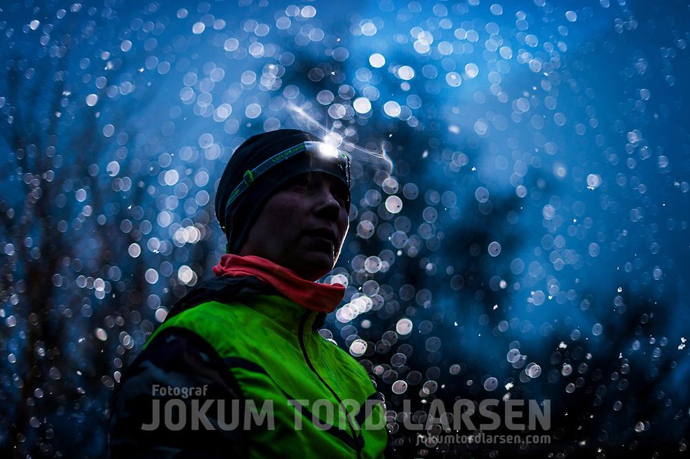 Female Runner during Winter