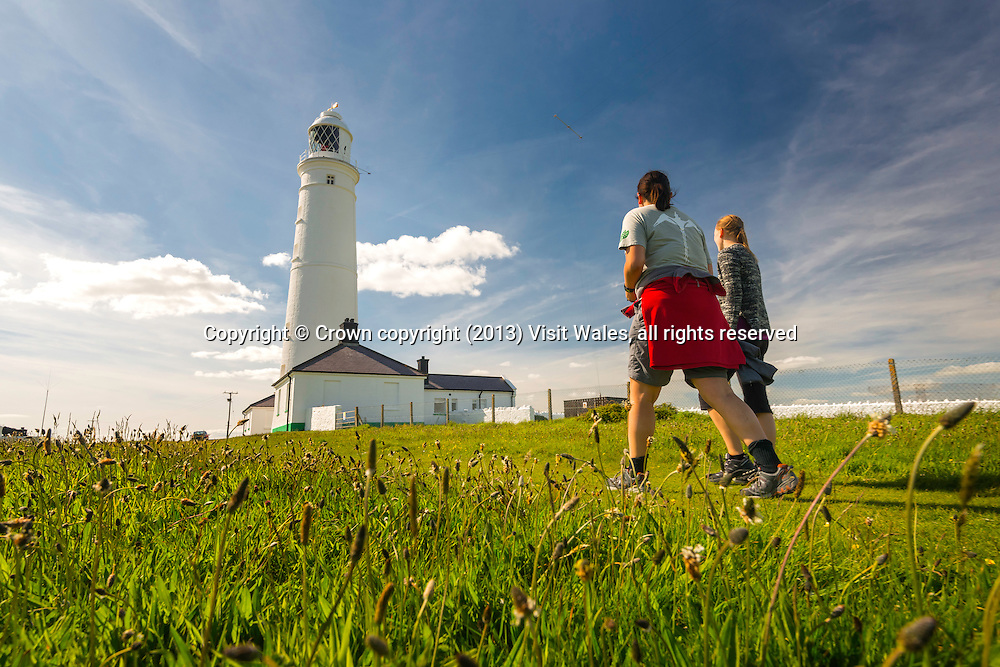 Walking at Nash Point Lighthouse<br /> Glamorgan Heritage Coast<br /> Vale of Glamorgan<br /> South<br /> Walking<br /> Activities and Sports
