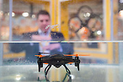 """UNITED KINGDOM, London: 25 January 2016 The """"Water- X"""" drone, a drone which can operate under water on display at The Toy Fair at Olympia, the UK'S only dedicated game and hobby event with more than 260 toy and gaming brands. The fair runs until tomorrow. Rick Findler / Story Picture Agency"""