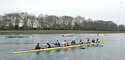 London, Great Britain.  Oxford, OUBC, commence warm-up, prior to Pre Boat race fixture over the Championship Course  River Thames. Single race piece - Putney to Chiswick Pier.  on Saturday  12/03/2011 [Mandatory Credit; Karon Phillips/Intersport Images]..Crew: .Bow Moritz HAFNER, Ben MYERS, Dave WHIFFIN,  Ben ELLISON,  Karl HUDSPITH,  Alec DENT,  George WHITTAKER, Stroke Constantine LOULOUDIS, Cox Sam WINTER-LEVY.