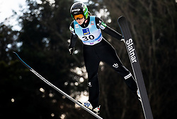 Ursa Bogataj of Slovenia soaring through the air during Trial Round at Day 1 of World Cup Ski Jumping Ladies Ljubno 2019, on February 8, 2019 in Ljubno ob Savinji, Slovenia. Photo by Matic Ritonja / Sportida