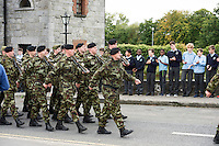 The 54th Infantry Group   at the Cathedral in Galway before deployment to the Golan Heights in Syria. Photo:Andrew Downes, XPOSURE