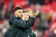 England midfielder Alex Oxlade-Chamberlain thanks fans at full time during the UEFA European 2020 Qualifier match between England and Montenegro at Wembley Stadium, London, England on 14 November 2019.