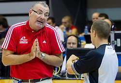 Jasmin Repesa, head coach of Croatia begging referee during basketball match between National teams of Croatia and Georgia in Round 1 at Day 2 of Eurobasket 2013 on September 5, 2013 in Arena Zlatorog, Celje, Slovenia. (Photo by Vid Ponikvar / Sportida.com)