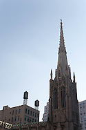 New York. church bell towers 11 st and broadway  New york - United states  /  eglise sur broadway et 11em rue  New york - Etats unis