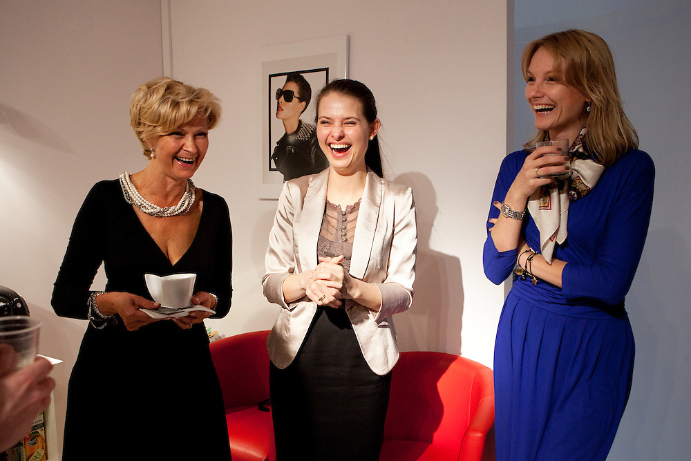 Warsaw, Poland, March 14 2013. Emilia Bartosiewicz at a meeting of Lady Business Club, a prestigious club for selected business women interested in building their personal brands.