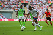 England forward Raheem Sterling(10) during the Friendly International match between England and Nigeria at Wembley Stadium, London, England on 2 June 2018. Picture by Toyin Oshodi.