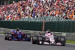 August 27, 2017 - Spa, Belgium - 31 OCON Esteban from France Force India ahead 26 KVYAT Daniil from Russia of team Toro Rosso during the Formula One Belgian Grand Prix at Circuit de Spa-Francorchamps on August 27, 2017 in Spa, Belgium. (Credit Image: © Xavier Bonilla/NurPhoto via ZUMA Press)
