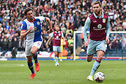 Aston Villa Midfielder, Gary Gardner (22) and Blackburn Rovers Midfielder, Jason Lowe (6)  during the EFL Sky Bet Championship match between Blackburn Rovers and Aston Villa at Ewood Park, Blackburn, England on 29 April 2017. Photo by Mark Pollitt.