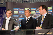 Ricky Burns draws Dundee out of the hat for their home tie with Kilmarnock - William Hill Scottish Cup 4th round draw - Interim WBO world lightweight champion Ricky Burns and Kristof Fahy, Chief Marketing Officer at William Hill, conduct the draw at Hampden Park - Scottish FA President Campbell Ogilvie in centre.. .- © David Young -.5 Foundry Place - .Monifieth - .Angus - .DD5 4BB - .Tel: 07765 252616 - .email: davidyoungphoto@gmail.com - .http://www.davidyoungphoto.co.uk