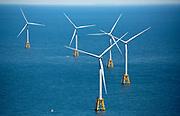 Wind turbine farm off the coast of Block Island, Rhode Island.
