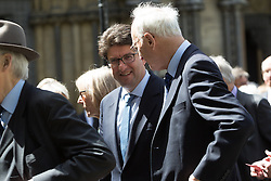 © Licensed to London News Pictures. 03/05/2016. LONDON, UK.  LORD FELDMAN arrives at a service of Thanksgiving for the life and work of former Chancellor of the Exchequer, Rt Hon The Lord Geoffrey Howe of Aberavon CH PC QC at St Margaret's Church, Westminster Abbey.  Photo credit: Vickie Flores/LNP