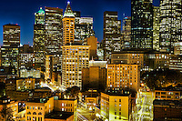 Core of Downtown Seattle featuring Smith Tower (center)