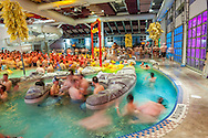 A pool party at the Aspen Recreation Center during Gay Ski Week in Aspen, Colorado.