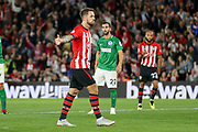 GOAL 2-0 Southampton striker Danny Ings (9) celebrates during the Premier League match between Southampton and Brighton and Hove Albion at the St Mary's Stadium, Southampton, England on 17 September 2018.