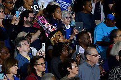 Students, voters are seen in the audience during a September, 28, 2016 Clinton/Kaine Voter Registration Rally with First Lady Michelle Obama, at LaSalle University, in Philadelphia, Pennsylvania.