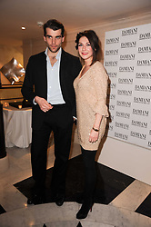 Carice van Houten and Stanley Weber at a dinner hosted by jewellers Damiani at The Connaught Hotel, London on 3rd February 2010.
