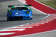 May 4-6, 2017: IMSA Sportscar Showdown at Circuit of the Americas. TRG, Porsche 911 GT3 R, Derek DeBoer, Jan Heylen, Santiago Creel