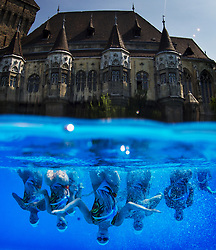July 21, 2017 - Budapest, Hungary - Team Canada training during a practice session at the 17th FINA World Championships 2017 in Budapest, Hungary. (Credit Image: © Joel Marklund/Bildbyran via ZUMA Wire)
