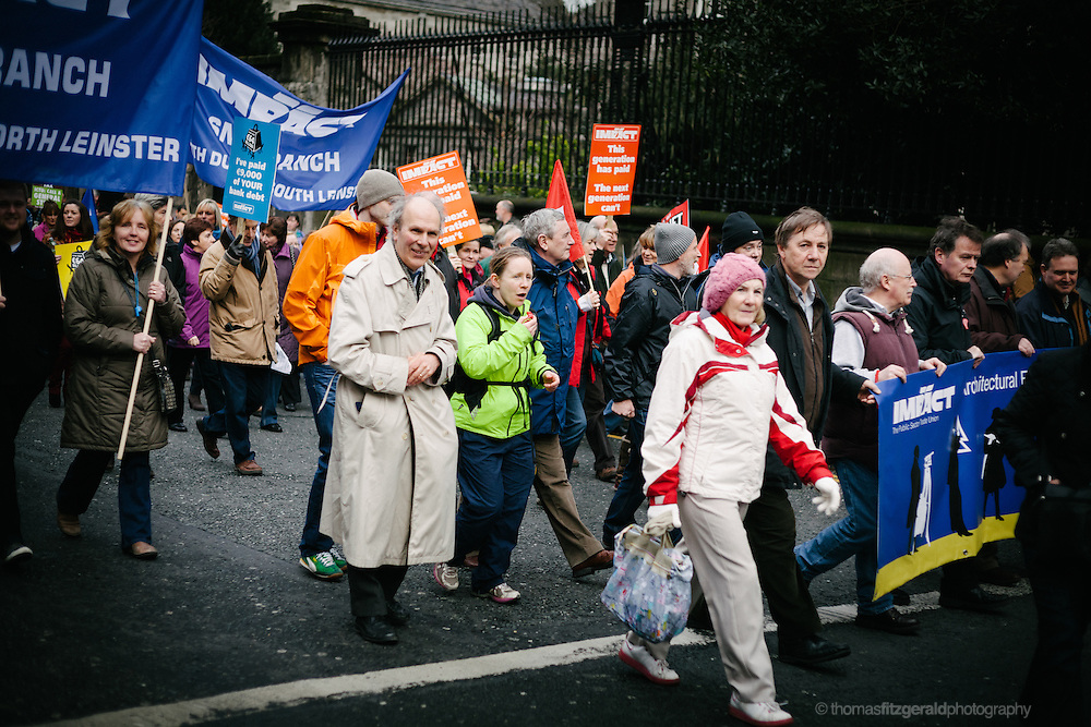 Protests against Property Tax in Dublin Ireland. EDITORIAL ONLY