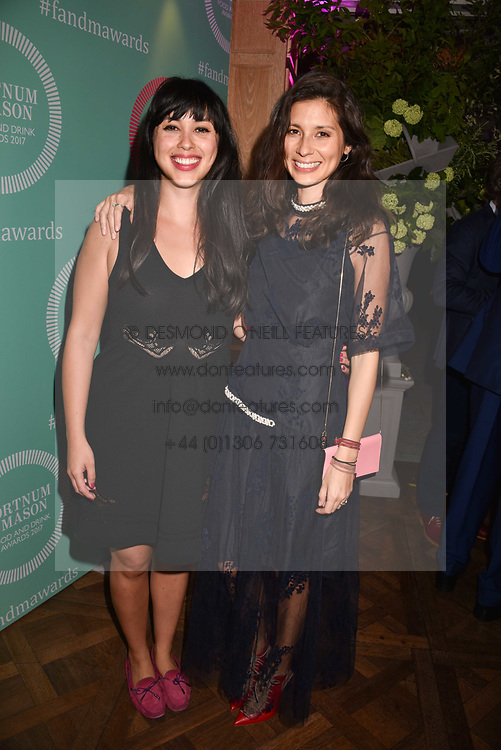 Melissa Hemsley and Jasmine Hemsley at the 2017 Fortnum & Mason Food & Drink Awards held at Fortnum & Mason, Piccadilly London England. 11 May 2017.<br /> Photo by Dominic O'Neill/SilverHub 0203 174 1069 sales@silverhubmedia.com