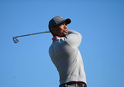 January 27, 2017 - San Diego, Calif, USA - Tiger Woods tees off on the 6th hole during the second day of the Farmers Insurance Open golf tournament at Torrey Pines in San Diego, Calif. on Friday, January 27, 2017. (Photo by Kevin Sullivan, Orange County Register/SCNG) (Credit Image: © Kevin Sullivan/The Orange County Register via ZUMA Wire)