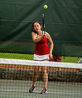 St Paul's School girls varsity tennis with St. Mark's School.     ©2017 Karen Bobotas Photographer