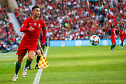 Portugal forward Cristiano Ronaldo (7) on the ball during the UEFA Nations League match between Portugal and Netherlands at Estadio do Dragao, Porto, Portugal on 9 June 2019.