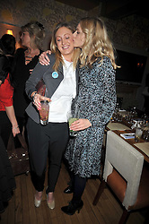 Left to right, sisters FRANCESCA AIR and DONNA AIR at a dinner in aid of the Soil Association held at Bumpkin, 102 Old Brompton Road, London SW7 on 11th March 2009.