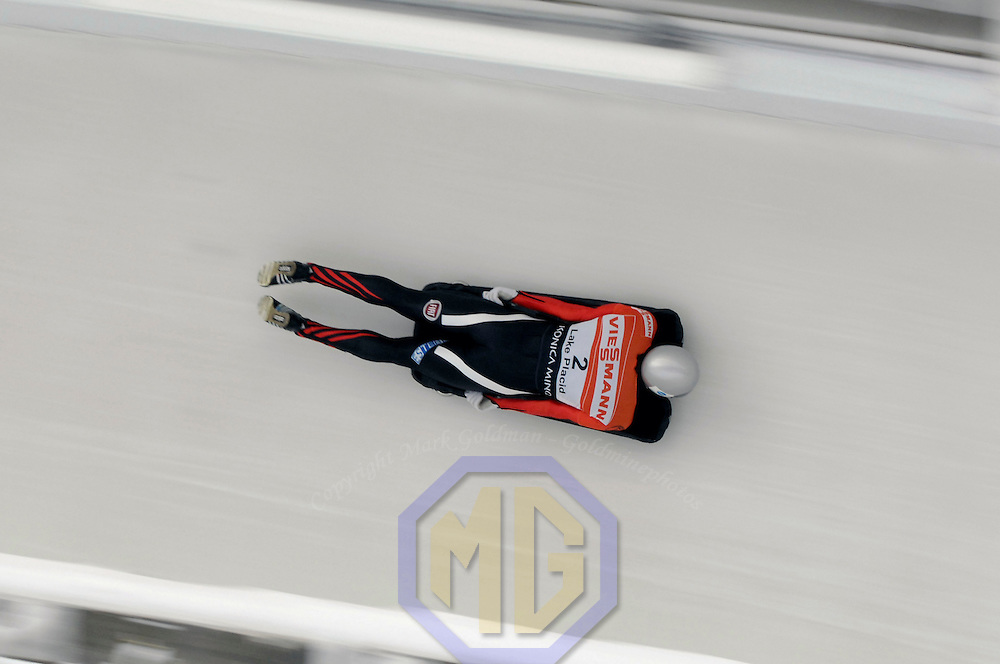 14 December 2007:  Markus Penz of Austria competes at the FIBT World Cup Men's skeleton competition on December 14, 2007 at the Olympic Sports Complex in Lake Placid, NY.  The race was won by Eric Bernotas of the United States.