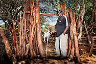 The owner of a farm with a lot of cattle in the North of Namibia. His cattle grazes on public land.