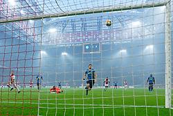 27-10-2019 NED: Ajax - Feyenoord, Amsterdam<br /> Eredivisie Round 11, Ajax win 4-0 / Nicolás Tagliafico #31 of Ajax score the 2-0. Kenneth Vermeer #1 of Feyenoord and Eric Fernando Botteghin #33 of Feyenoord