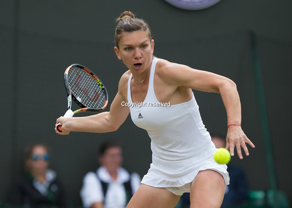 04.07.2016. All England Lawn Tennis and Croquet Club, London, England. The Wimbledon Tennis Championships Day 8.  SIMONA HALEP (ROU)