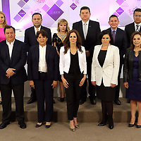 Toluca, México (Mayo 09, 2017).- Consejeros del IEEM y candidatos a la gubernatura del Edo Mex, Durante el segundo debate en las instalaciones de lEEM. Agencia MVT / Especial IEEM.