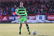 Forest Green Rovers Haydn Hollis(32) on the ball during the EFL Sky Bet League 2 match between Accrington Stanley and Forest Green Rovers at the Wham Stadium, Accrington, England on 17 March 2018. Picture by Shane Healey.