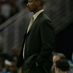 23 December 2008: New Orleans Hornets coach Byron Scott watches his team during a 100-87 loss by the New Orleans Hornets to the Los Angeles Lakers at the New Orleans Arena in New Orleans, LA. .
