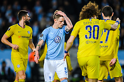February 14, 2019 - MalmÅ, Sweden - 190214 SÅ¡ren Rieks of MalmÅ¡ FF looks dejected during the Europa league match between MalmÅ¡ FF and Chelsea on February 14, 2019 in MalmÅ¡..Photo: Petter Arvidson / BILDBYRN / kod PA / 92225 (Credit Image: © Petter Arvidson/Bildbyran via ZUMA Press)