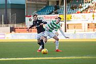 26th December 2017, Dens Park, Dundee, Scotland; Scottish Premier League football, Dundee versus Celtic; Dundee's Jack Lambert and Celtic's Mikael Lustig