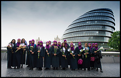 June 5, 2017 - London, London, United Kingdom - Image ©Licensed to i-Images Picture Agency. 05/06/2017. London, United Kingdom...Students at Eden Girls School from Waltham Forest, London attend the vigil...The Mayor of London, Sadiq Khan, hosts a vigil at Potters Field near London Bridge, to honour victims of the London Bridge terror attacks...Picture by Ben Stevens / i-Images (Credit Image: © Ben Stevens/i-Images via ZUMA Press)