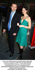 Club owner PIERS ADAM and MISS SOPHIE VANACORE at a party in London on 24th February 2004.PSA 452