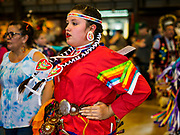 06 MAY 2017 - ST. PAUL, MN: A dance for cancer survivors at the 6th Annual Powwow for Hope at Ft. Snelling in St. Paul. The powwow was a fundraiser to support cancer education and supportive services for American Indian communities. Proceeds benefited the American Indian Cancer Foundation's work to eliminate cancer burdens on American Indian families. Cancer is the leading cause of death in Native American communities, exceeding coronary disease and diabetes.       PHOTO BY JACK KURTZ